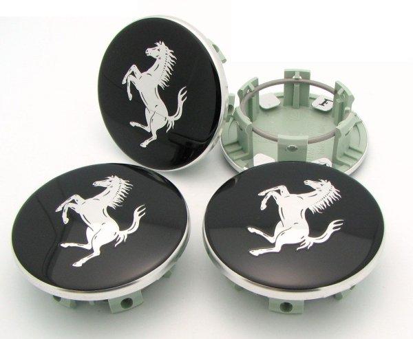 画像1: 360モデナ用ホイールバッチセット(Black with silver horse)