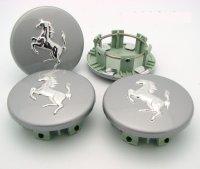 360モデナ用ホイールバッチセット(Silver grey with aluminium horse)