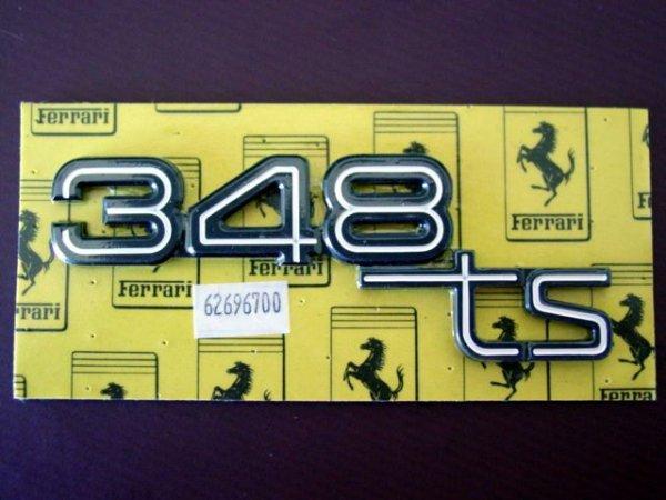 """画像1: """"348TS""""マーク リアエンブレム(348)"""