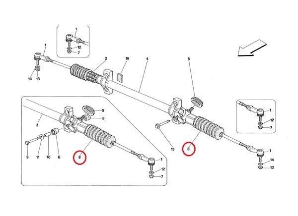 画像1: ステアリングラックブーツ(左側)(348)