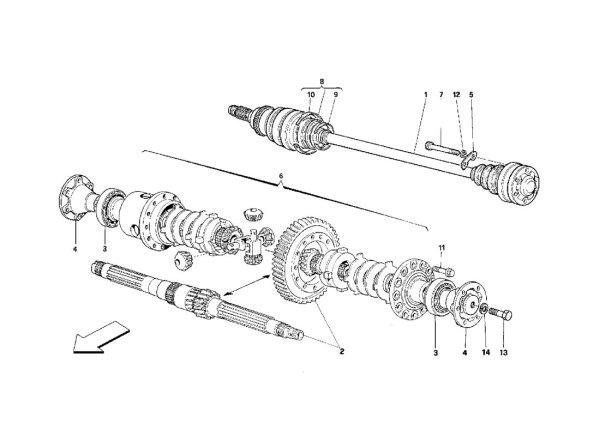 画像1: 008 プロテクション・リプレースメント・セット・ギアボックス・サイド/348(2.7 Motronic)